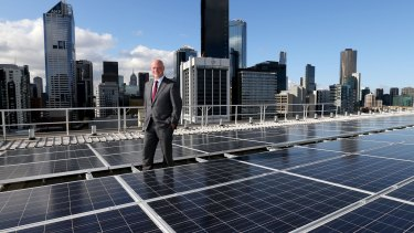 """Transition to """"a carbon constrained future"""": AGL chief executive Andy Vesey."""