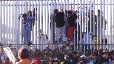 A disturbance at the Woomera Detention Centre.
