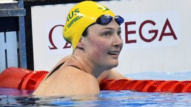 Cate Campbell finished outside the medals in her individual events.