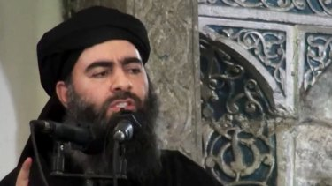 San Bernadino shooter Tashfeen Malik pledged her allegiance to the leader of the Islamic State group, Abu Bakr al-Baghdadi, pictured, on Facebook on the day of the shooting, according to US government sources.