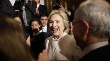 Hillary Clinton after her foreign policy speech on Thursday.