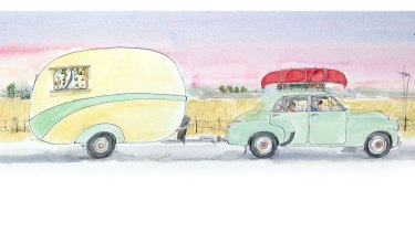 From Little Dog and the Summer Holiday by Corinne Fenton, illustrated by Robin Cowcher.