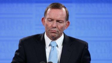 Prime Minister Tony Abbott addresses the National Press Club of Australia.