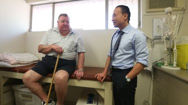 Kean-Seng Lim had been practising in Mount Druitt for nearly 20 years when he noticed that his 130 kilogram scales were no longer sufficient to weigh many of his patients.