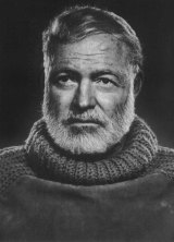 Ernest Hemingway. Copying other writers with highly distinctive styles can be a way to help develop a style of your own.
