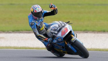 High five: Jack Miller will take fifth place on the starting grid on Sunday.
