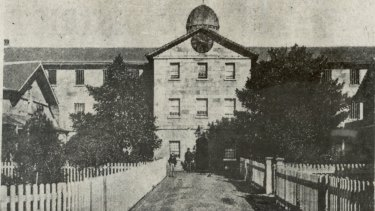 The Female Factory, pictured in about 1938, was built to house female convicts.
