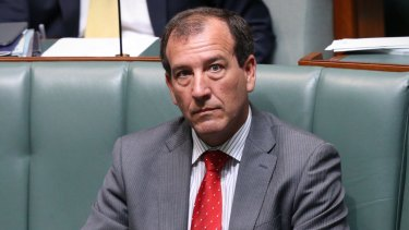 Special Minister of State Mal Brough during question time on Wednesday.