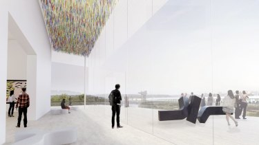 Design concepts for the Art Gallery of NSW's Sydney Modern Project by winning architects Kazuyo Sejima and Ryue Nishizawa.