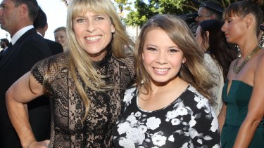 Sued: Terri Irwin with daughter Bindi.
