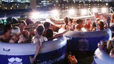 Hot Tub Cinema in Sydney.