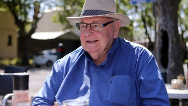 Father Bob Maguire at the Avenue Foodstore in Albert Park.