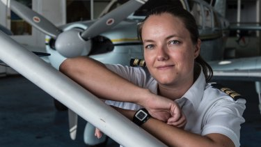 Pilot Tessa Beyersdorff is an instructor and base manager at Bankstown Airport's Sydney Flying School.