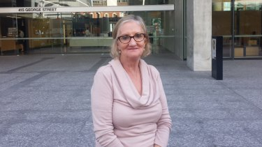 Disability campaigner Gaye Lyons outside the Queensland Court of Appeal on Wednesday.