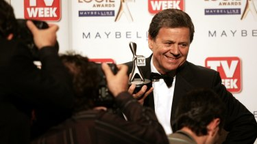Ray Martin with his 2007 Logie.