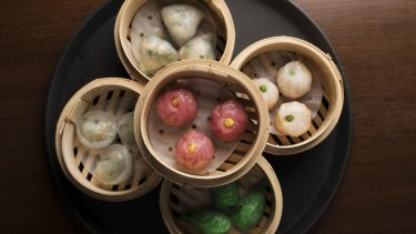 A selection of steamed dumplings at Bodhi.