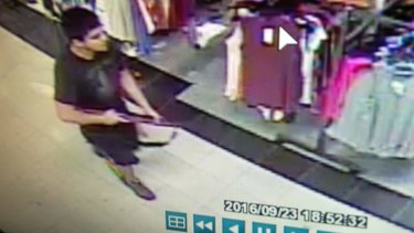 Surveillance video provided by the Washington State Patrol shows the suspect in a shooting rampage at the Cascade Mall.