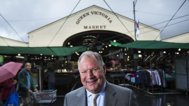 Done deal: Melbourne lord mayor Robert Doyle at the Queen Victoria Market.