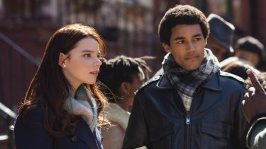 Anya Taylor-Joy as Charlotte and Devon Terrell as the young Barack Obama in <i>Barry</i>.