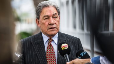 Winston Peters has said he would only make a decision on which party to back after the final tally.