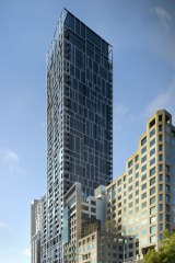 An artist's impressions of the 43-storey Cbus development at 35 Spring Street.