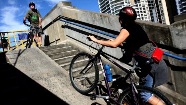A new cycle ramp will replace the steps on the north side of the bridge.