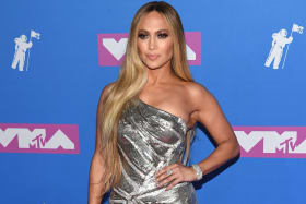 Jennifer Lopez arrives at the MTV Video Music Awards at Radio City Music Hall.