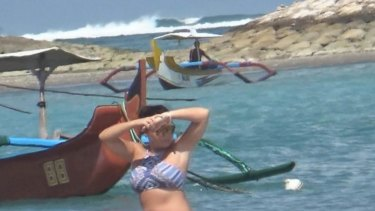 Schapelle Corby at a Kuta beach earlier in May.