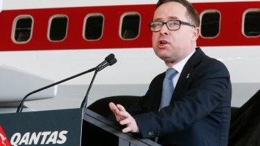 Killing it: Qantas boss Alan Joyce.