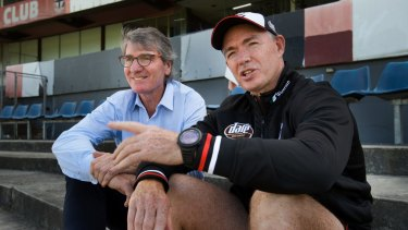 St Kilda great Barry Breen (left) with coach Alan Richardson.