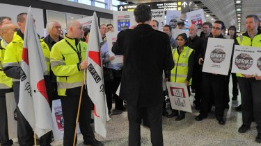 Airport workers have remained without a new employment agreement and pay rise for almost three years.