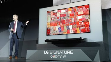 The incredibly thin LG signature OLED TV.