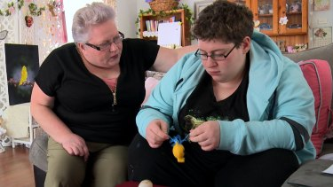 Michelle, left, is one of many full-time carers forced into poverty.