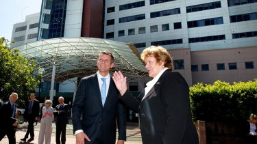 NSW Premier Mike Baird and Health Minister Jillian Skinner at Prince Of Wales hospital at Randwick.