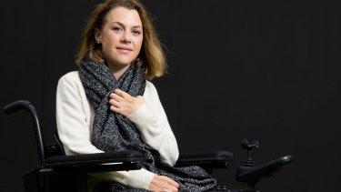 Emily James, 24, became a quadriplegic after a snowboarding accident.
