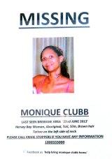 Missing person Monique Clubb.