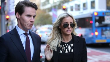 A splash of gold added to the drama as Roxy Jacenko and husband Oliver Curtis awaited the jury's verdict this week.