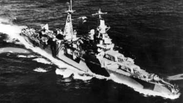 The USS Indianapolis, a 10,000-tonne American heavy cruiser was lost during August, 1945 with 1196 casualties.