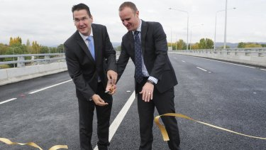 The Majura Parkway being opened to traffic in April.