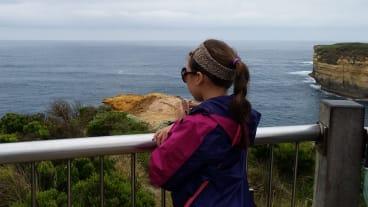 Overlooking the ocean from the great ocean road.
