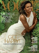 Michelle Obama on the cover of the December issue of Vogue.