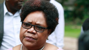 """Former vice-president Joice Mujuru, once known as """"Spill Blood"""", has called for """"free, fair and credible elections""""."""