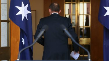 """""""If there's one thing I feel entirely confident about, it's the direction that Australia should be headi… um, where are my microphones and flags?"""""""