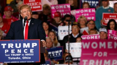 Donald Trump in Toledo, Ohio.