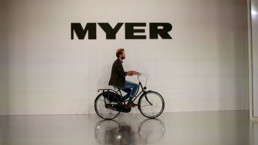 Myer's sales have continued to fall.