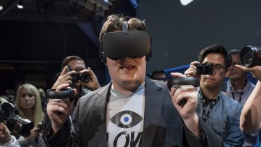 Facebook has started taking orders on Oculus Rift headsets, demonstrated here by their creator Palmer Luckey.