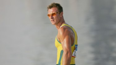 Nathan Baggaley, pictured here at the 2004 Olympic Games in Athens, has been jailed for his role in a drug syndicate.