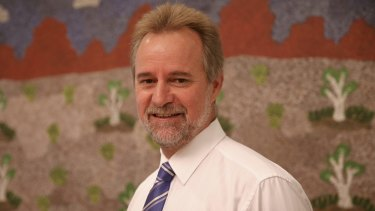 Indigenous Affairs Senator Nigel Scullion in his office at Parliament House