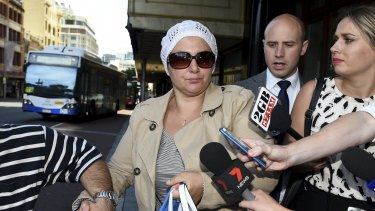 Amirah Droudis, pictured at the Downing Centre in December 2014, is to spend at least 33 years in jail for murdering Man Haron Monis' former wife.