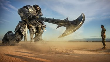 Megatron and Lennox (Josh Duhamel) in the latest Transformers instalment.